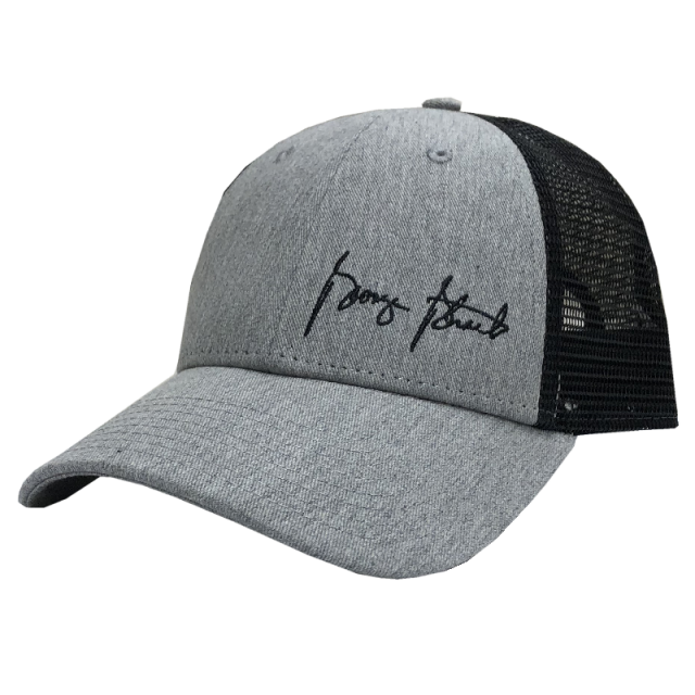 George Strait Grey and Black Ballcap w/ Offset Logo