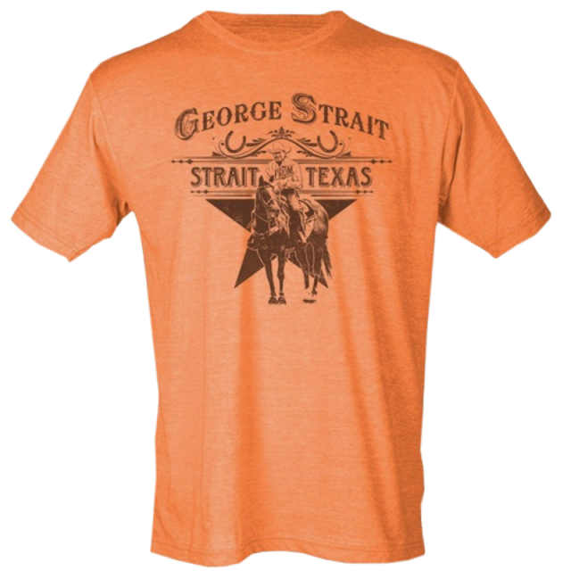 George Strait Heather Orange Strait From Texas Tee