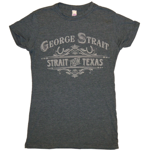 George Strait Ladies Heather Grey Tee