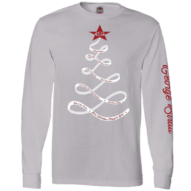 George Strait Long Sleeve Silver Christmas Tee