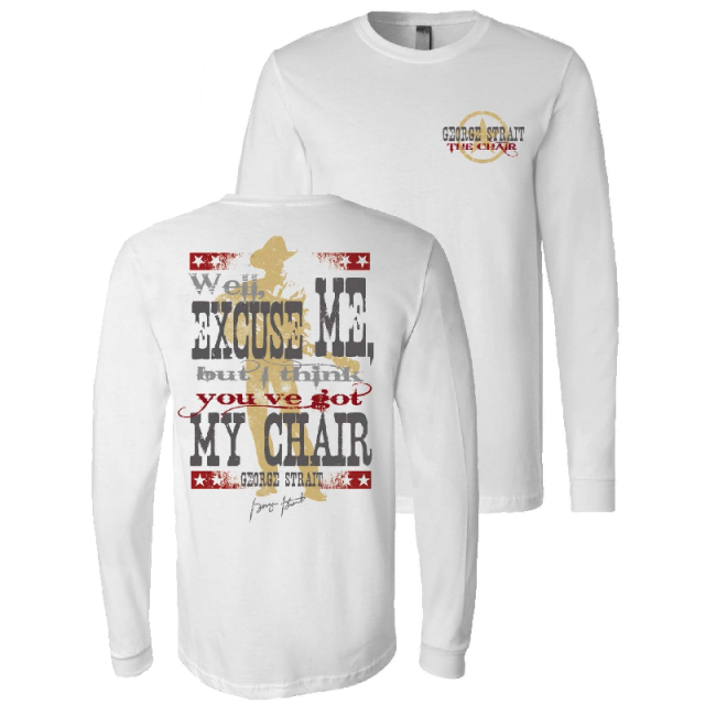 George Strait Long Sleeve My Chair Tee