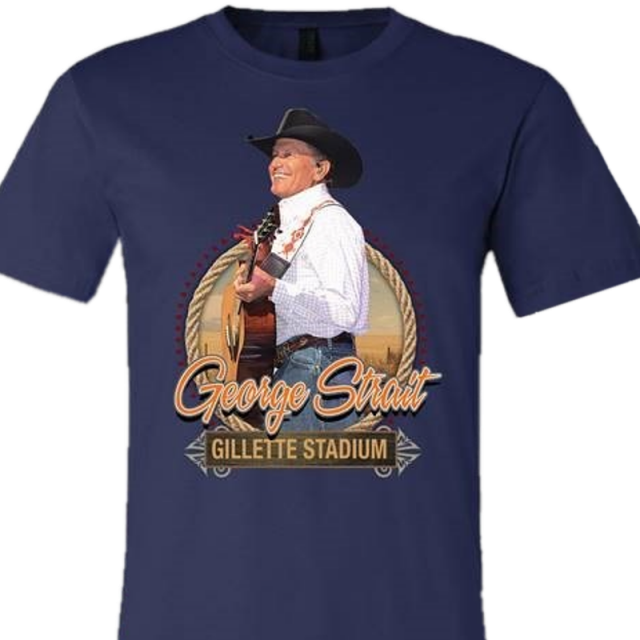 George Strait 2019 Navy Gillette Stadium Event Tee