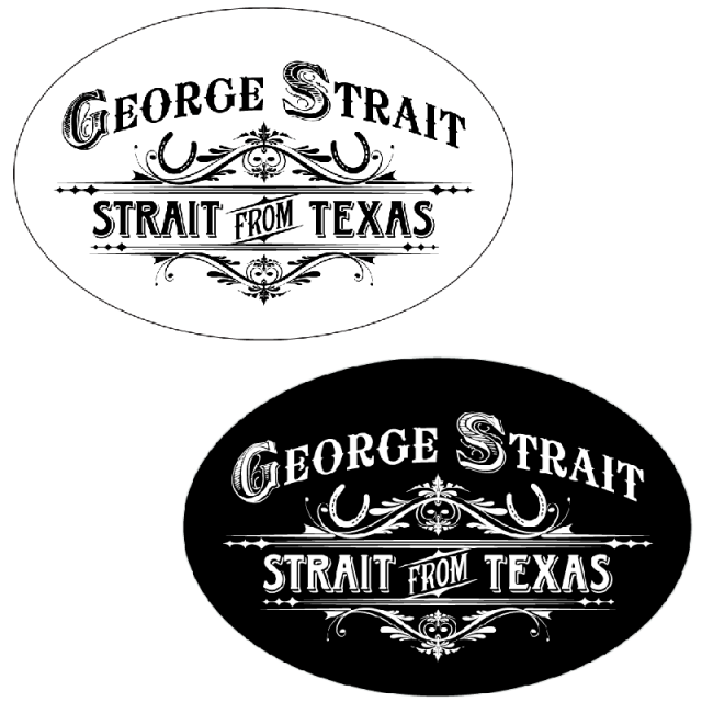 George Strait Oval Sticker