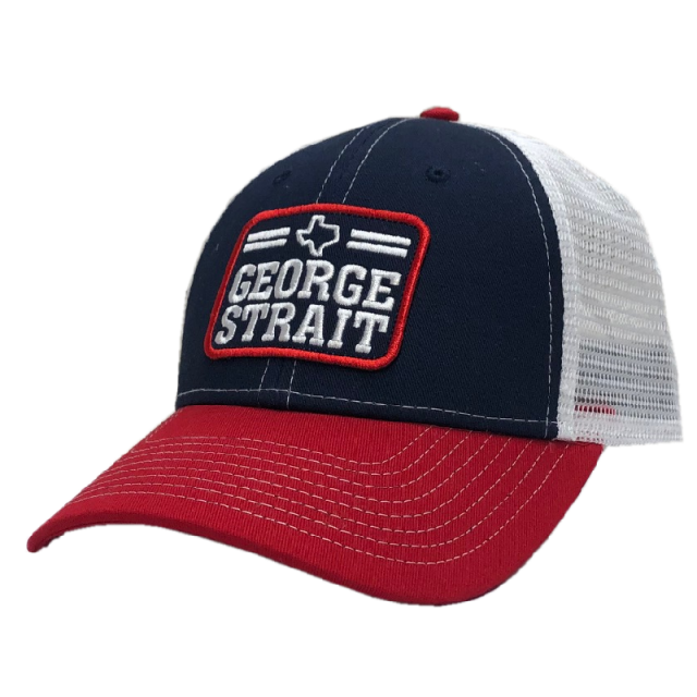 George Strait Red, White and Navy Ballcap