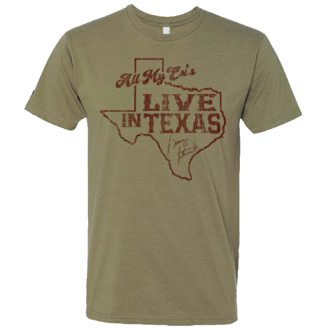 George Strait Light Olive Ex's Tee