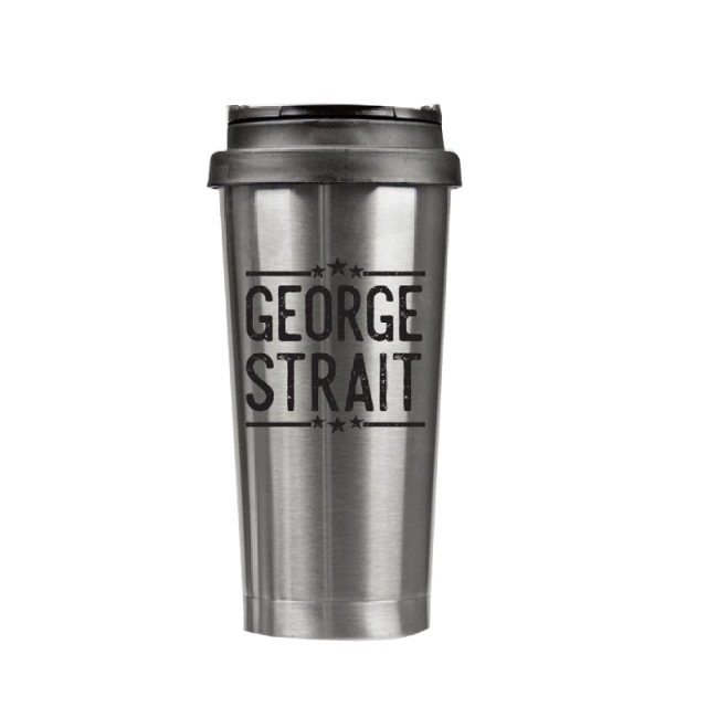 George Strait 16 oz. Stainless Steel Tumbler